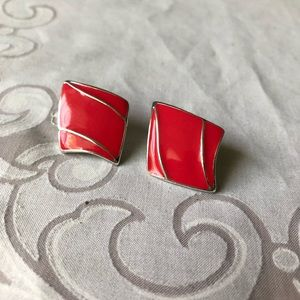 CLEARANCE- Vintage salmon colored diamonds
